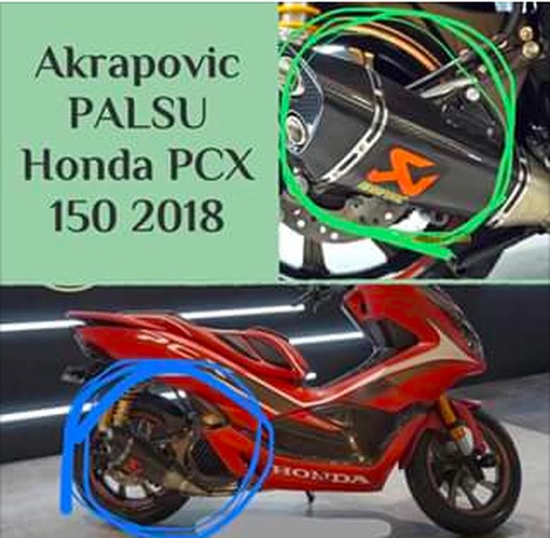 Modifikator PCX Minta Maaf, Salah Taruh Logo Knalpot Akrapovic di Motor Launching