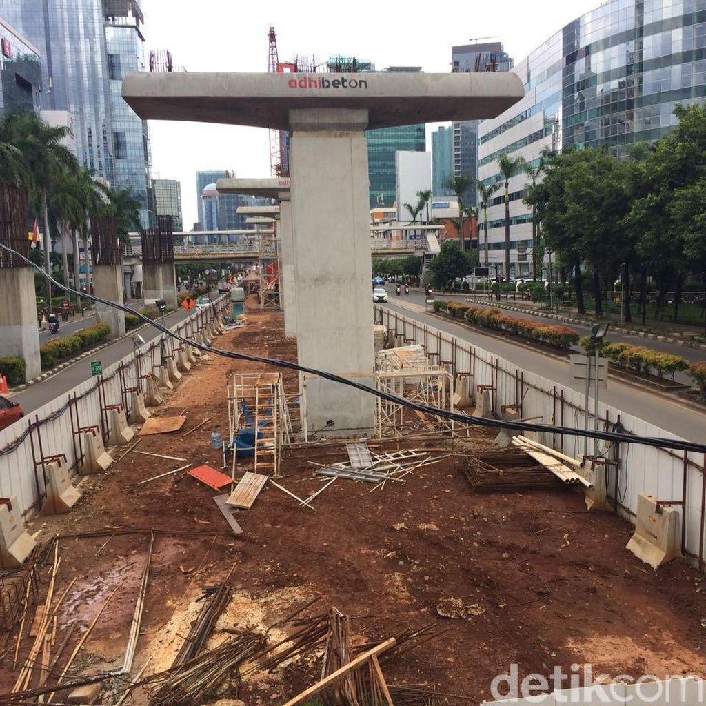 Konstruksi LRT Jabodebek Tetap Jalan, Tapi Non Layang