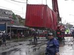 Evakuasi Truk Terguling, Kemacetan Jalur Surabaya-Malang Terurai