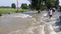 Sungai Pemali Meluap ke Jalanan, Jalur Brebes-Jatibarang Terendam
