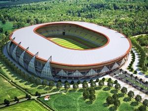 Stadion Megah Papua Ini Dibangun Di Antara Bukit