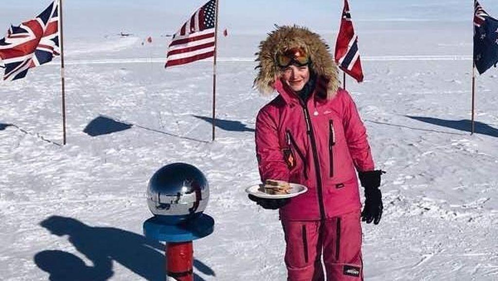 Foto: Cantiknya Jade Hameister, Si Penakluk Kutub