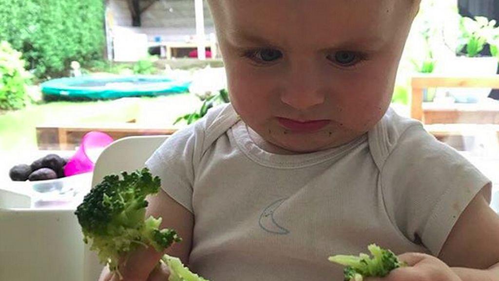 Lucu Banget! Ekspresi Anak-anak Saat Makan Sayur