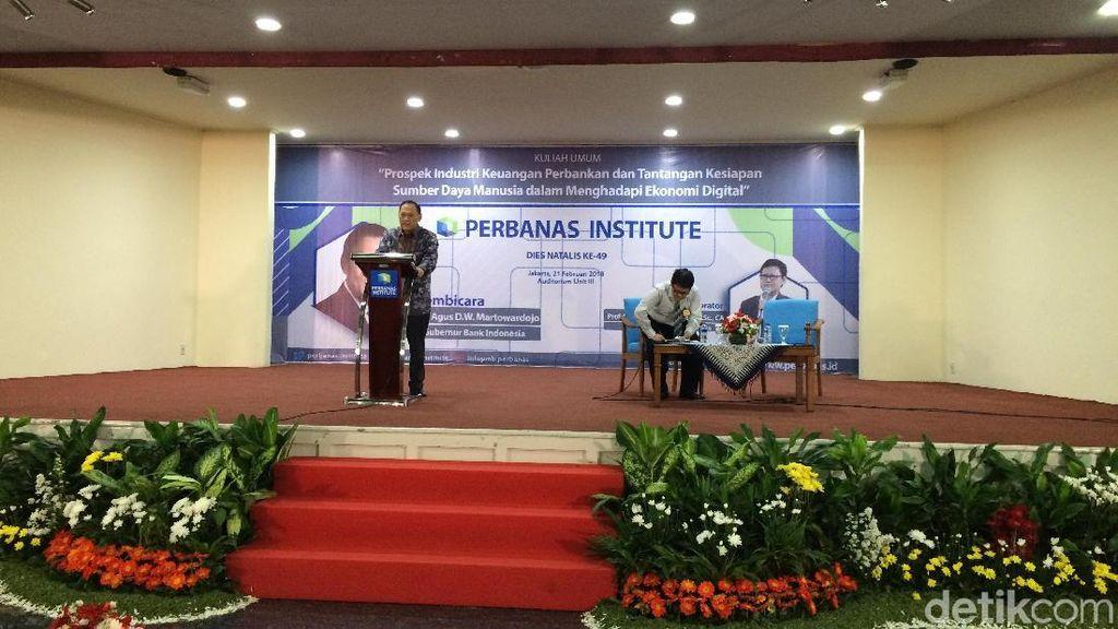 Gubernur BI Beri Kuliah Umum di Perbanas Institute