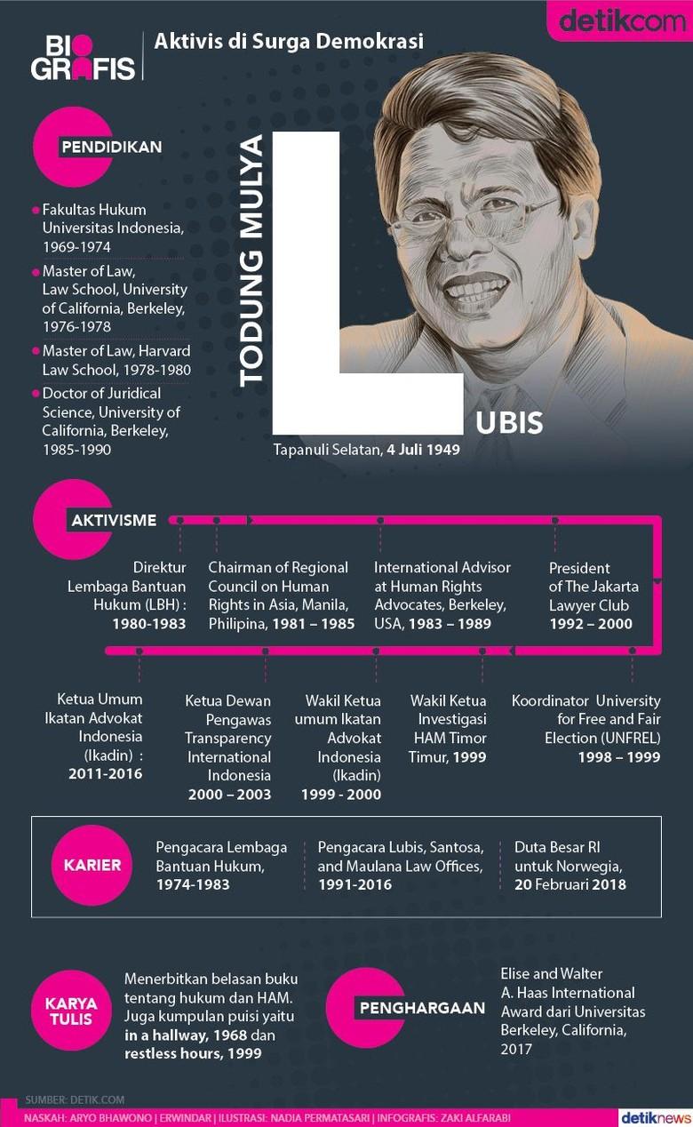 Todung Mulya Lubis: Pengacara Dahulu, Diplomat Kemudian
