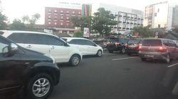 Lalu Lintas Terpantau Padat Jelang Bandara Cengkareng