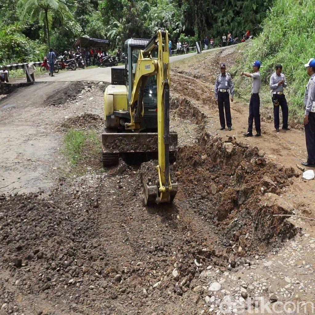 Jalan Amblas, Jalur Pekalongan-Banjarnegara Terganggu