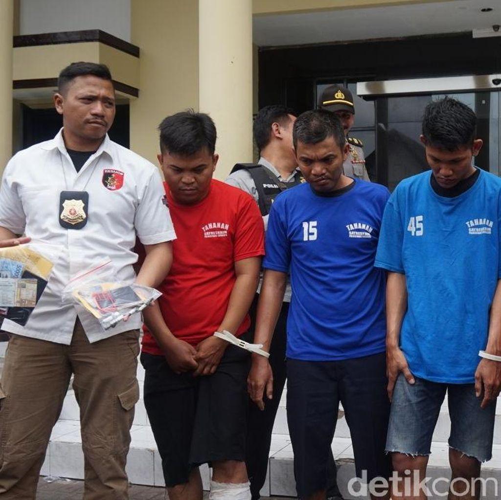 Perampok Spesialis Pecah Kaca Mobil Kelompok Palembang Dibekuk