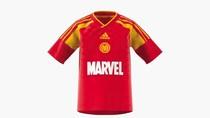 Penampakan Jersey Spesial Adidas-Marvel: Spiderman, Hulk, Iron Man