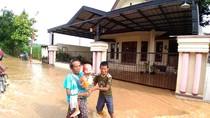 Hujan Lebat, Permukiman 4 Dusun di Kediri Terendam Banjir
