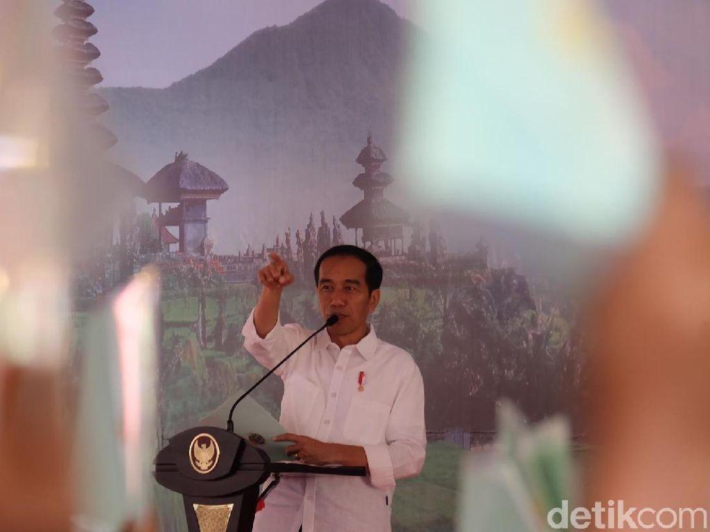 Jokowi: 2019, Bali Pertama yang Semua Warganya Bersertifikat Tanah