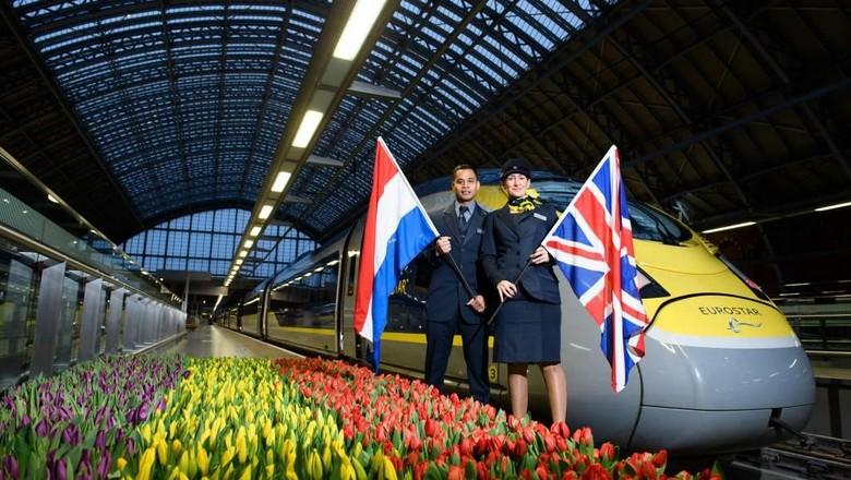 Foto: Eurostar membuka rute London-Amsterdam (Photo by Jonathan Hordle/Getty Images for Eurostar)