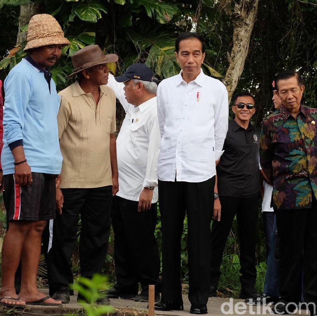 Tinjau Proyek Padat Karya di Tabanan, Jokowi Ajak Dialog Petani