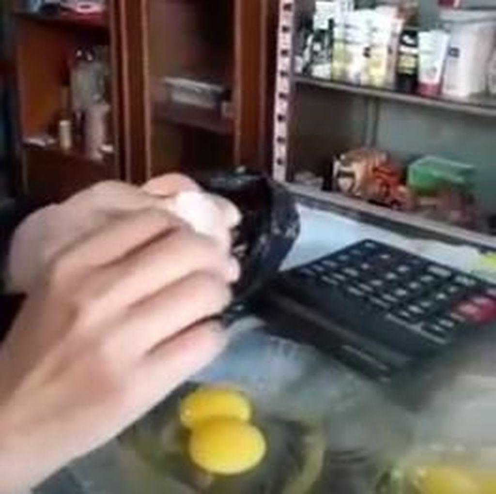 Viral Video Telur Palsu Beredar di Mataram, Ini Faktanya