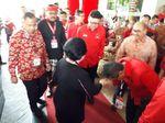Bersama Tjahjo dan Yasonna, Megawati Tiba di Lokasi Rakernas PDIP