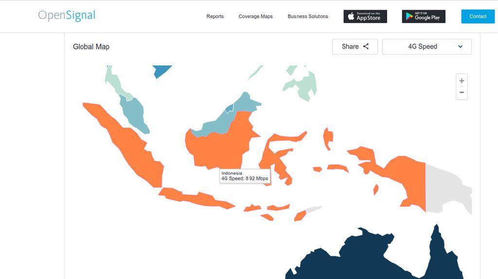 Kecepatan 4G Indonesia Ngebut, Tapi Kok Urutan Bontot