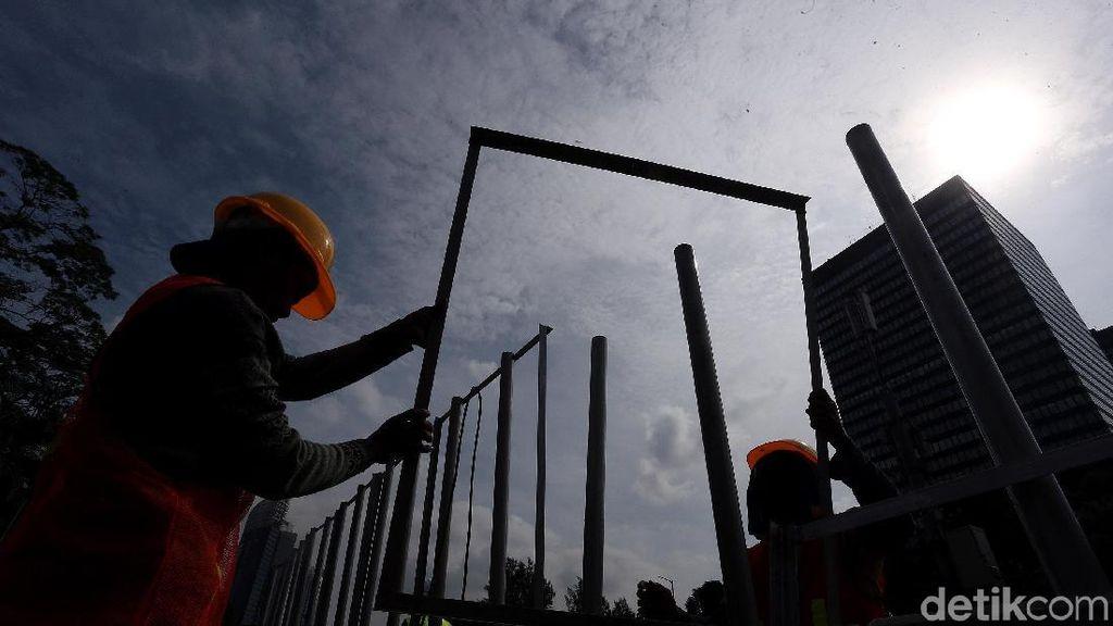 Untuk Penataan, Jalan Sudirman-Thamrin Dipasang Pembatas