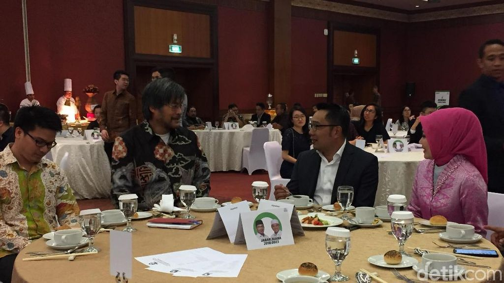 Geliat Ridwan Kamil Galang Dana Kampanye Lewat Dinner di Jakarta