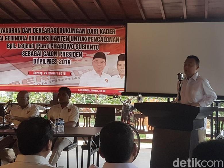 Gerindra Banten Deklarasi Prabowo Capres 2019