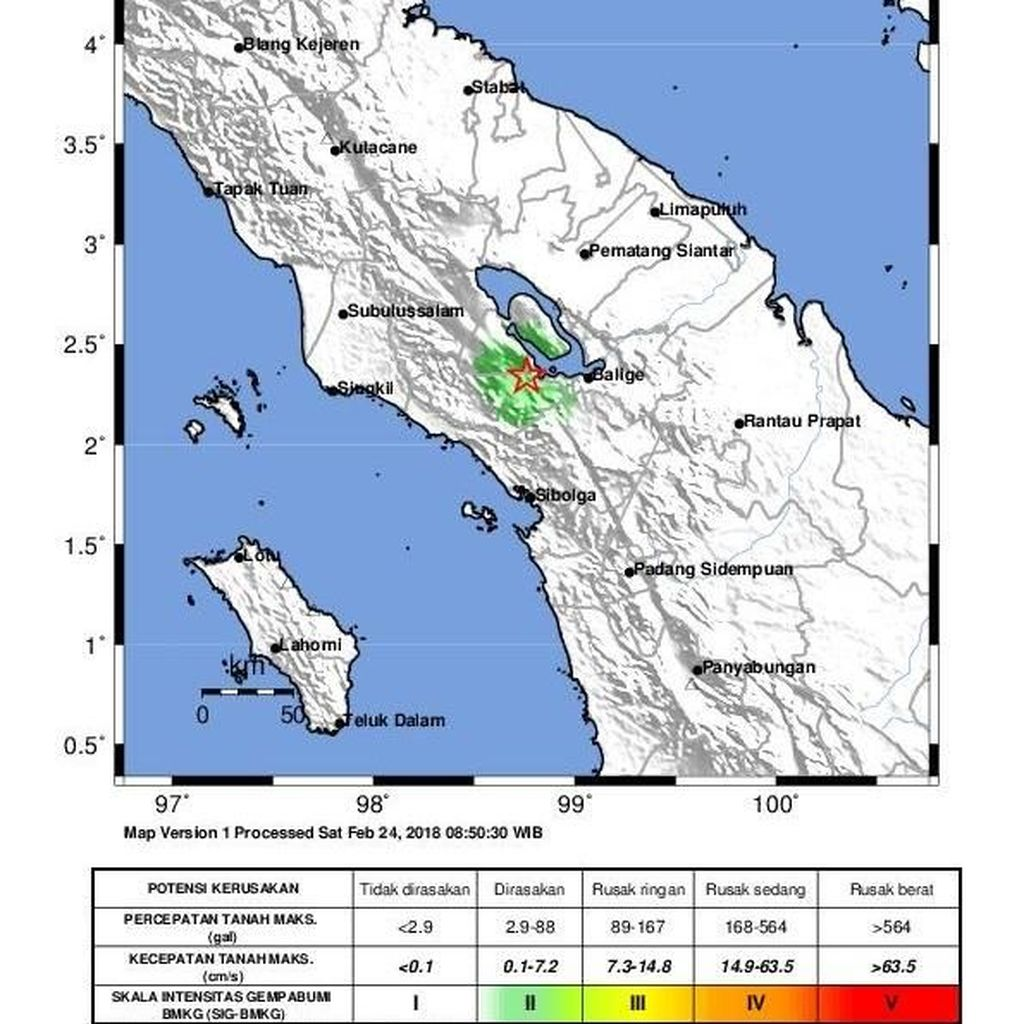 BMKG Tepis Hoax Terkait Gempa Bumi di Samosir