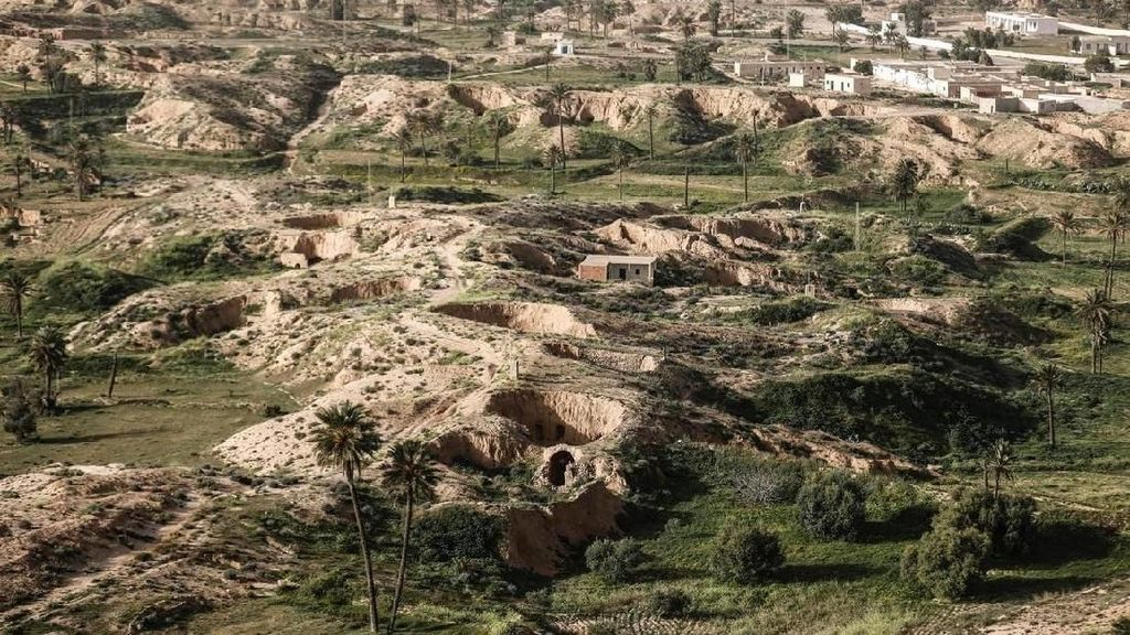 Bukan Lubang Semut, Ini Rumah Bawah Tanah di Tunisia