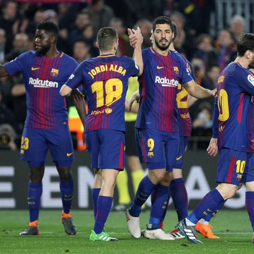 Suarez Hat-trick, Barcelona Cukur Girona