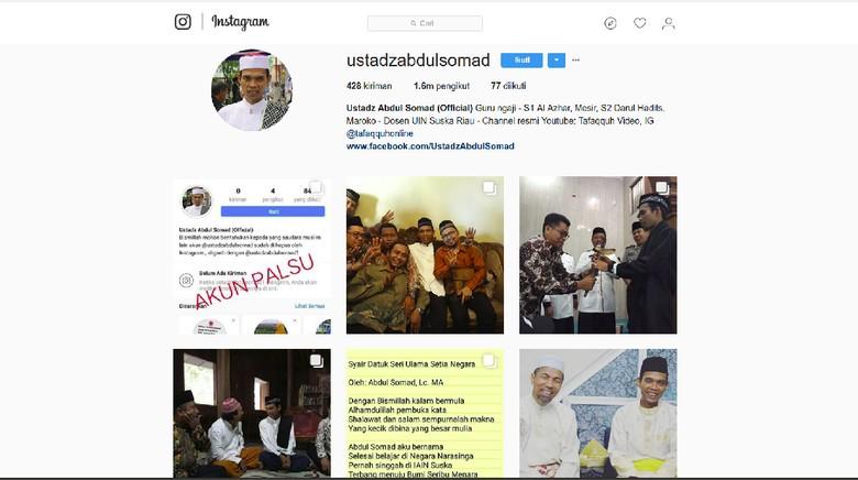 Sempat Di-Suspend, Akun Instagram Ustaz Somad Sudah Kembali Aktif