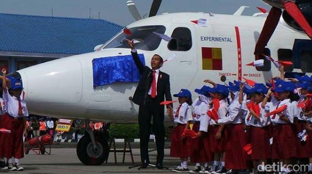 Throwback: Jokowi Saat Resmikan Nama Pesawat Nurtanio