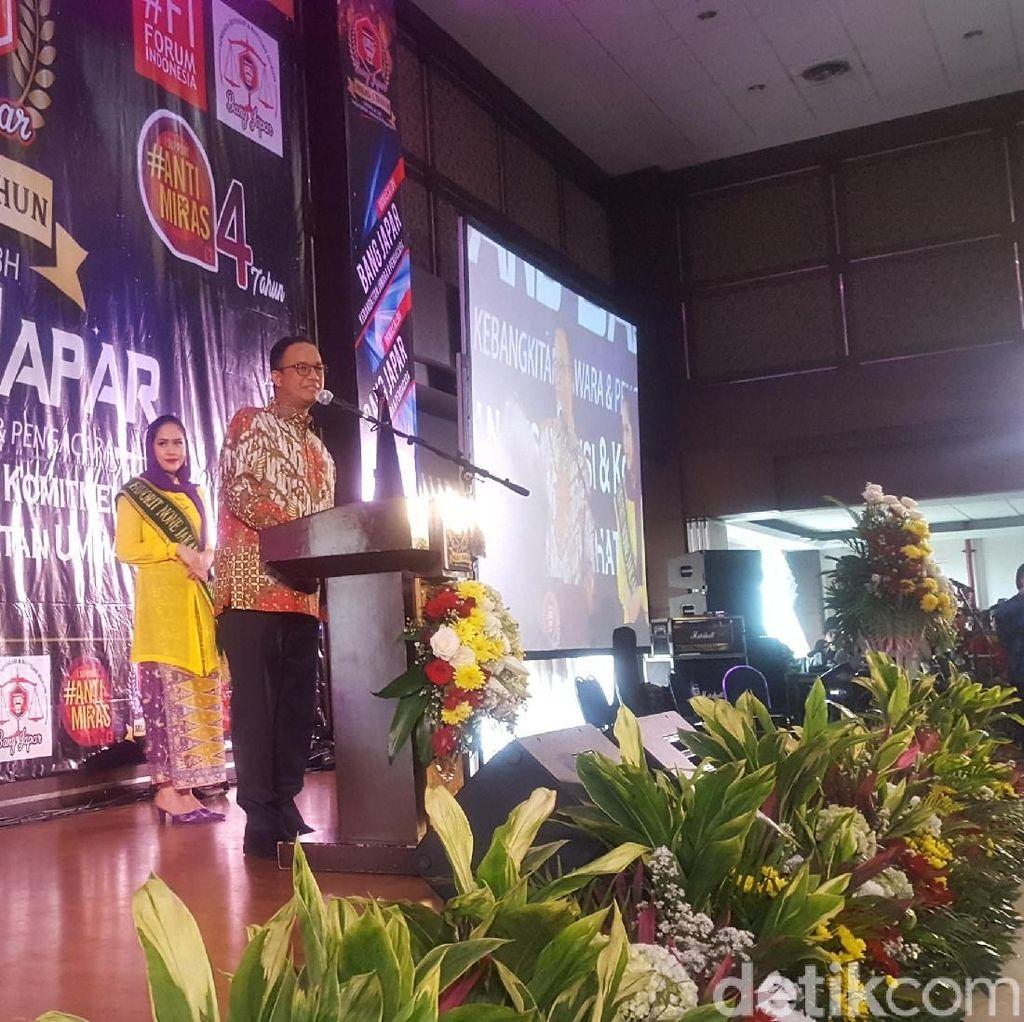 Gubernur Anies Minta Bang Japar Jaga Persatuan