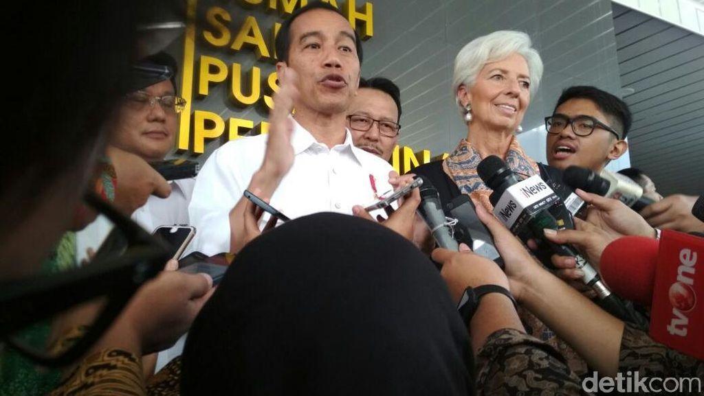 Ajak Bos IMF ke RSPP, Jokowi Pamer Manfaat Kartu Indonesia Sehat