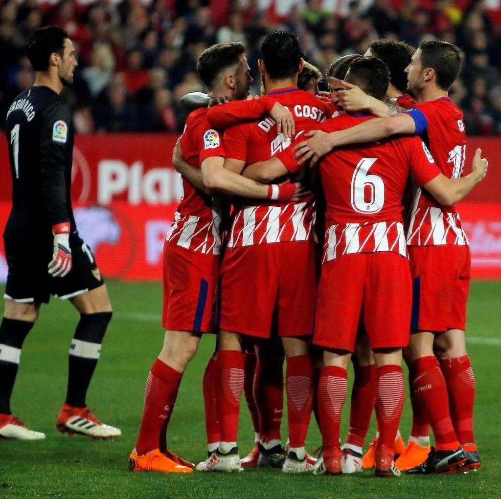 Griezmann Hat-trick, Atletico Lumat Sevilla 5-2