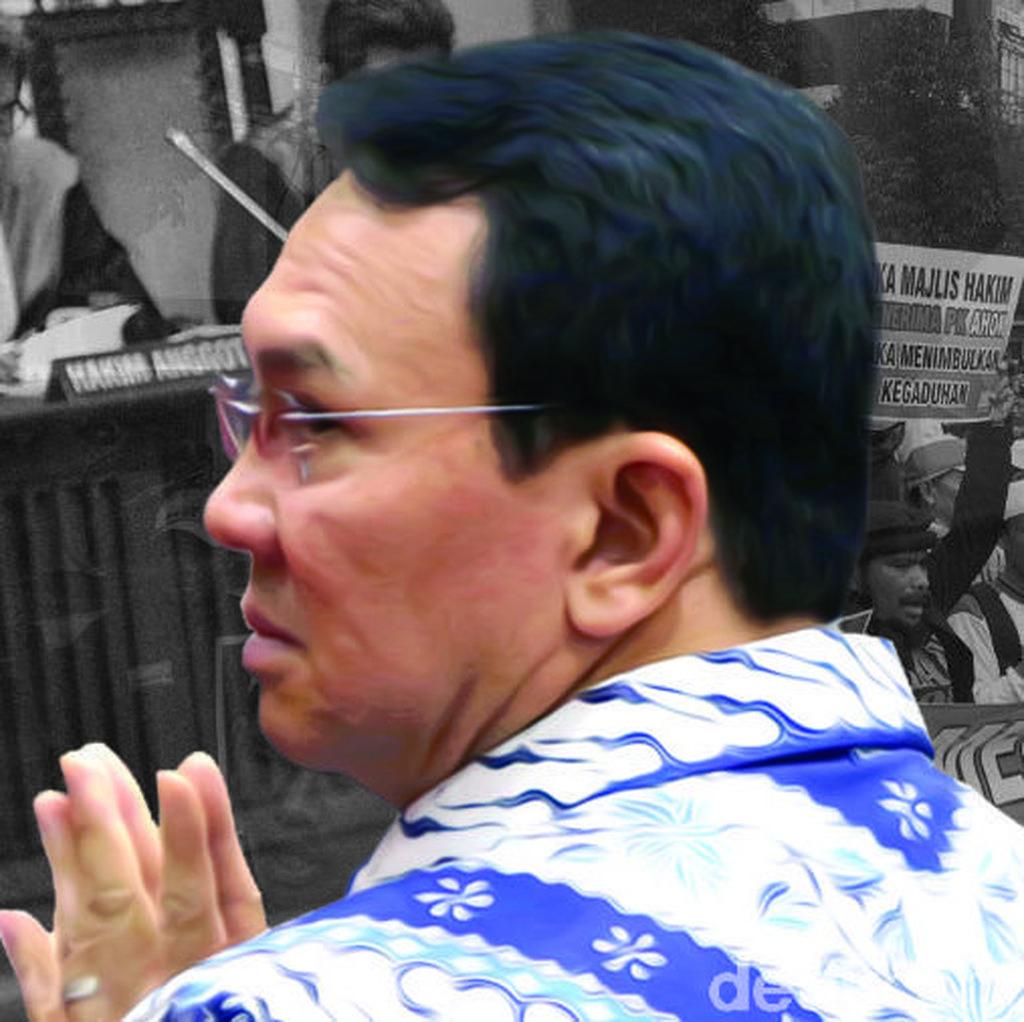 Sidang PK Dipimpin Hakim Artidjo, Ahok Berdoa