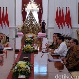 Jokowi Terima Kunjungan Bos IMF di Istana