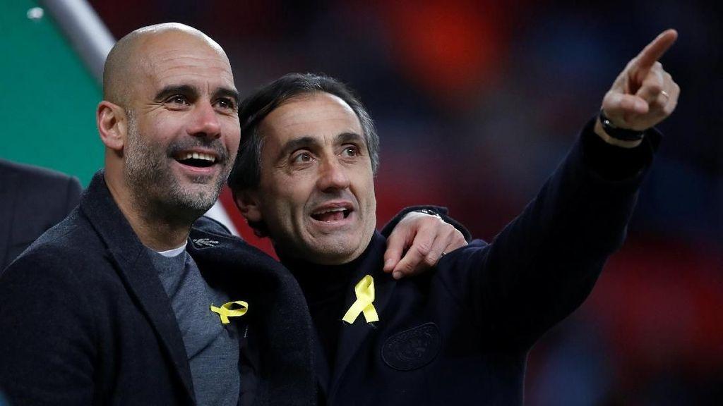 City Berpesta, Guardiola Tetap Pasang Pita Kuning di Dada