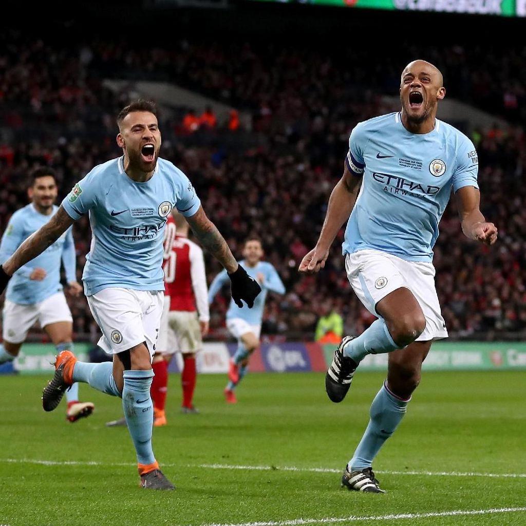 Gasak Arsenal 3-0, Manchester City Juara Piala Liga Inggris