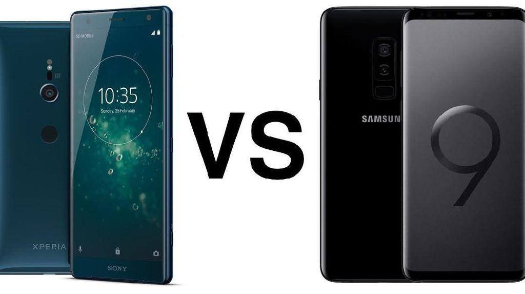 Membandingkan Galaxy S9+ vs Xperia XZ2