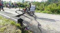 Jalan Provinsi Putus, Karangkobar di Banjarnegara Krisis BBM