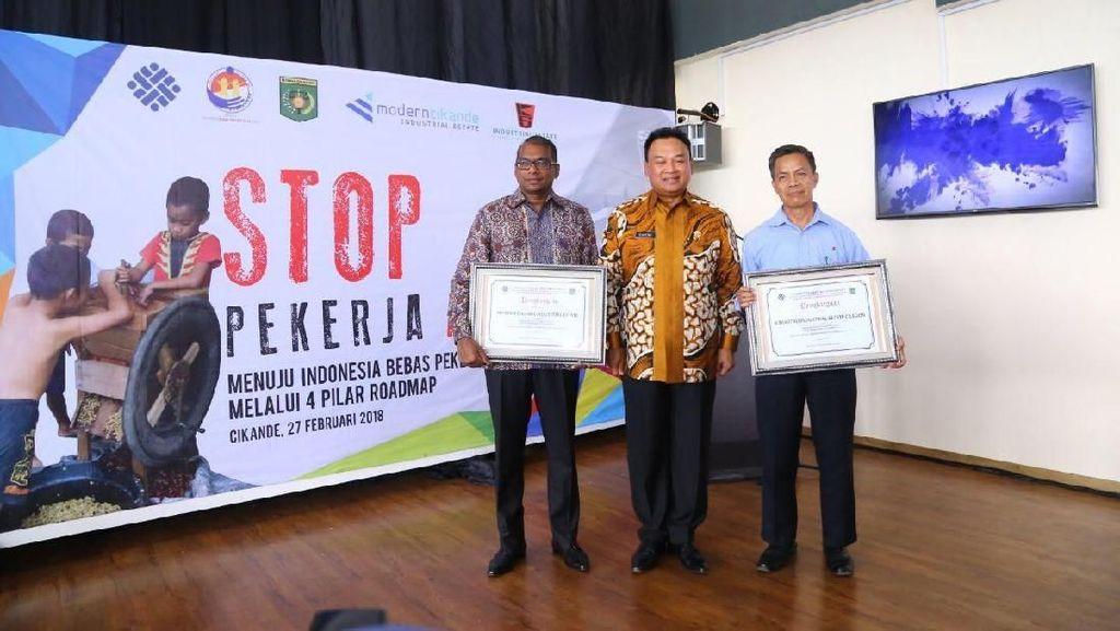 Kemnaker Tetapkan 2 Kawasan Industri Bebas Pekerja Anak di Banten