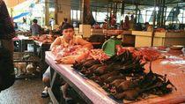 Foto: Pasar Ini Jual Daging Kelelawar Sampai Tikus