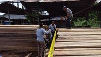 Foto: 5.000 Batang Kayu Belian dan Meranti Ilegal Disita Polda Kalbar