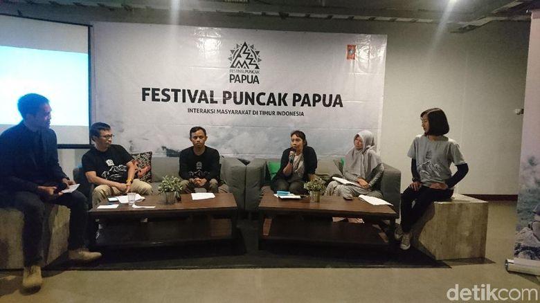 Foto: Konferensi pers Festival Puncak Papua (Masaul/detikTravel)