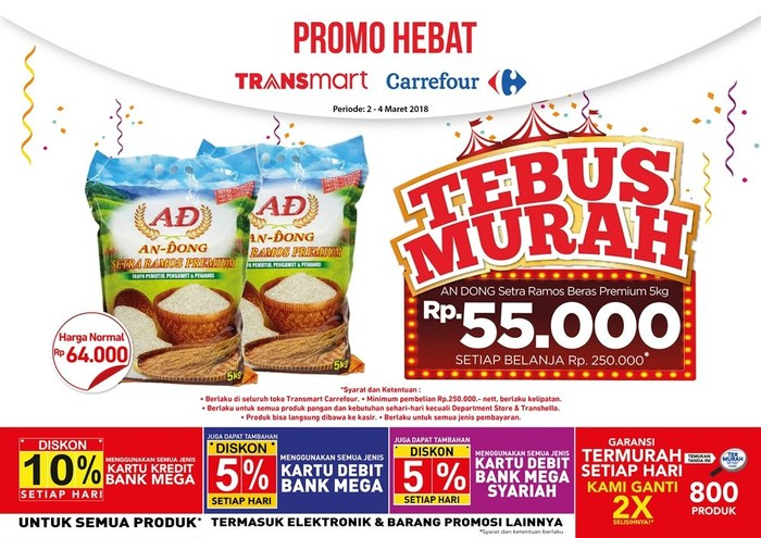 Foto: Tebus murah beras (Dok. Transmart Carrefour)
