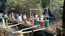 Pabrik Minyak Ilegal di Hutan Digerebek, Motor dan 10 Drum Disita
