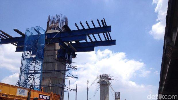 Konstruksi layang proyek tol Becakayu belum dimulai