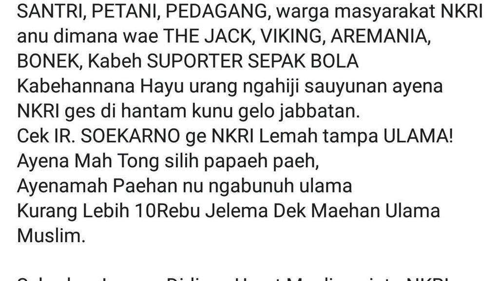Sebar Informasi Hoax di Medsos, Pelajar di Sukabumi Ditangkap