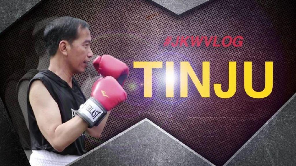 Ngevlog, Jokowi Pamer Latihan Tinju
