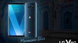 Begini Tampang LG V30 Plus Berkelir Biru