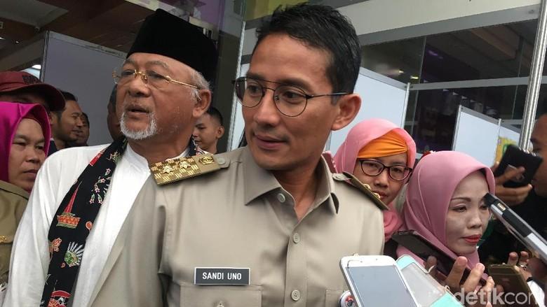 Trotoar Sudirman Pakai Dana KLB, Sandi: Insyaallah Tak Pengaruhi WTP