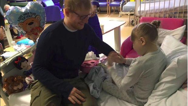 Bahagianya Anak Berpenyakit Langka Ini Saat Dihadiahi Gitar Ed Sheeran
