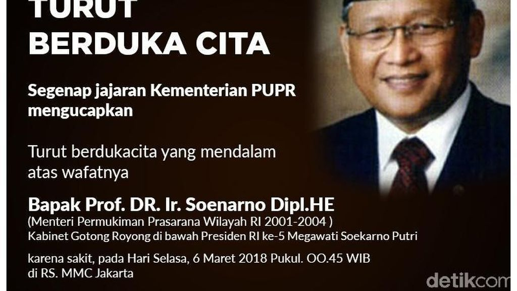 Mengenang Soenarno, Menteri yang Mulai Bangun Tol Cipularang
